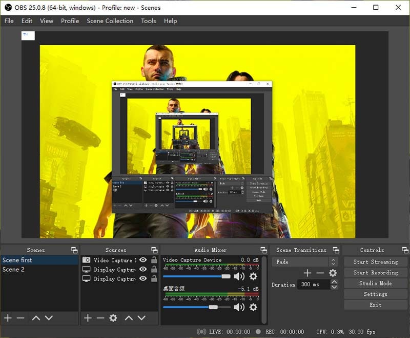 obs game screen recorder