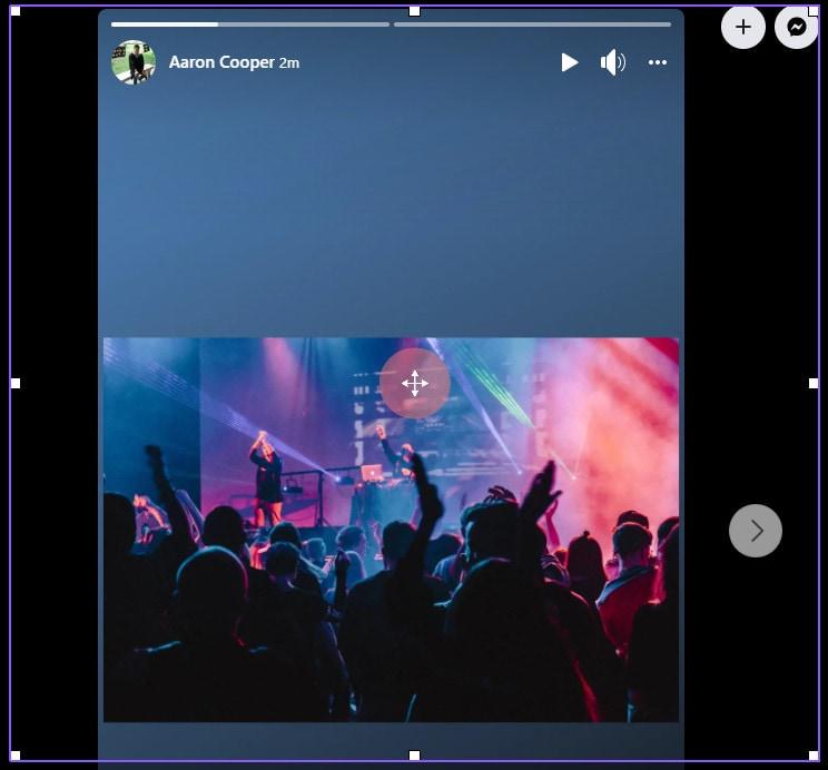 start recording facebook story