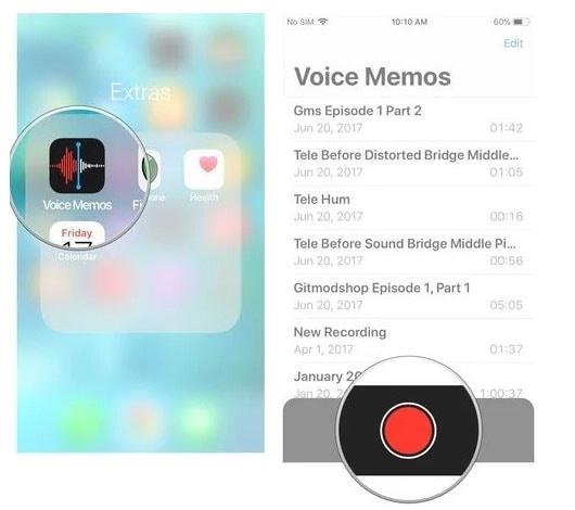 audio recording with voice memo