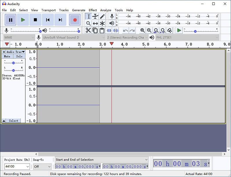recording audio with audacity
