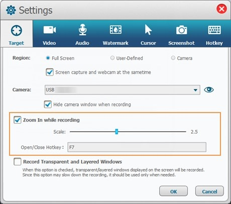 customize settings ukeysoft