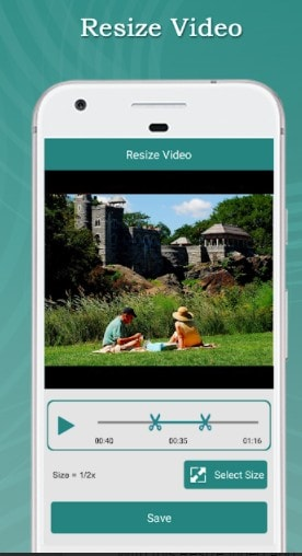 resize video android