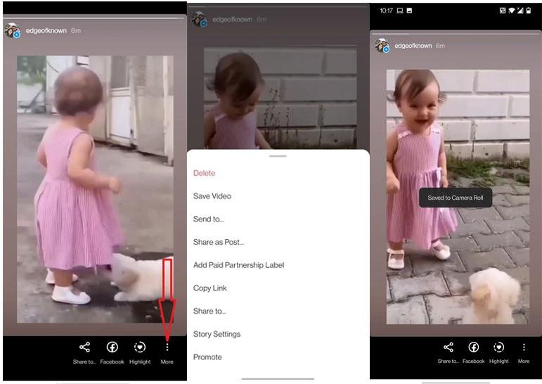 save instagram videos