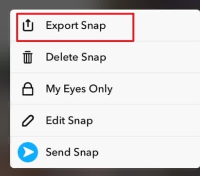enregistrer la vidéo Snapchat