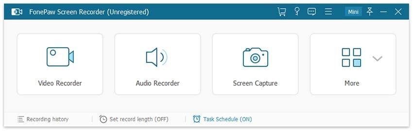 fonepaw screen recording options