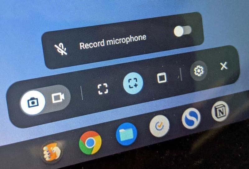 select screen capture chromebook
