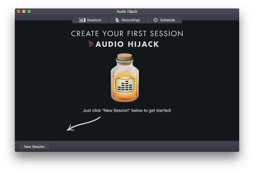 set up audio hijake
