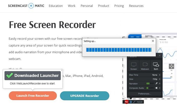 set up screencast o matic