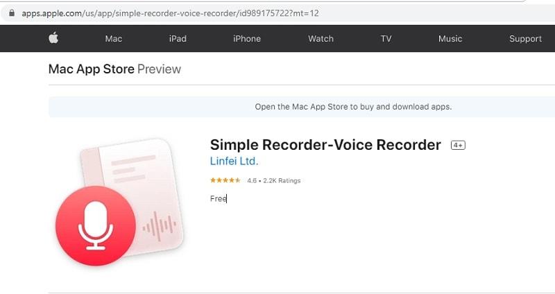 simple voice recorder mac