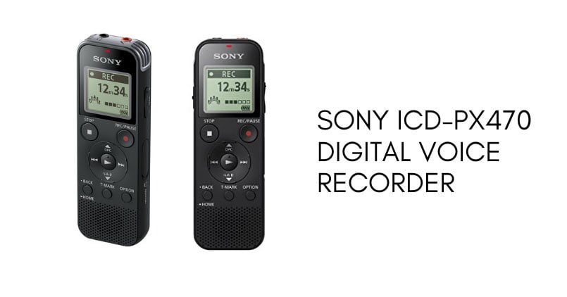 sony icd px740 voice recorder