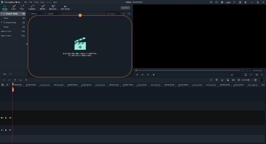 split screen video filmora step1