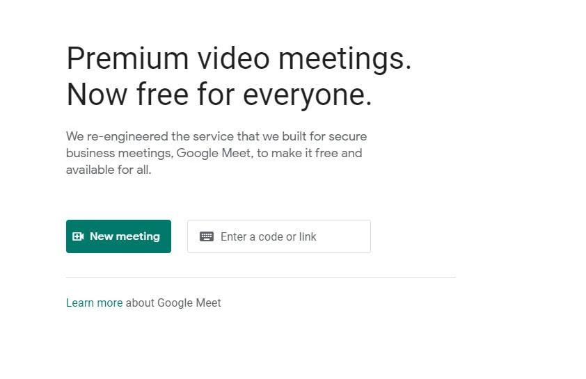 start new google meet