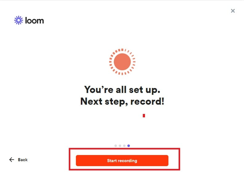 start recording with loom recorder