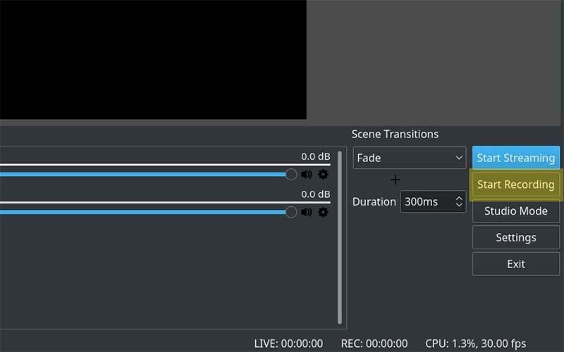 start recording obs