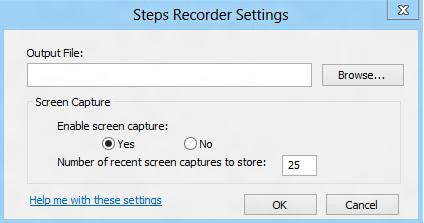 steps recorder output