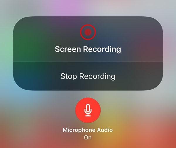 stop iphone recording