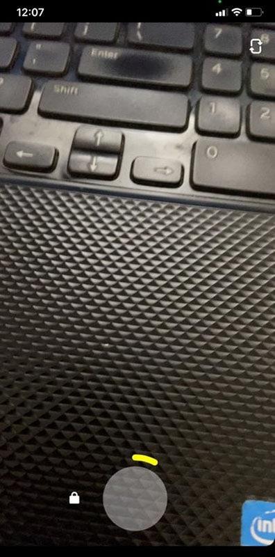 tap recording snapchat