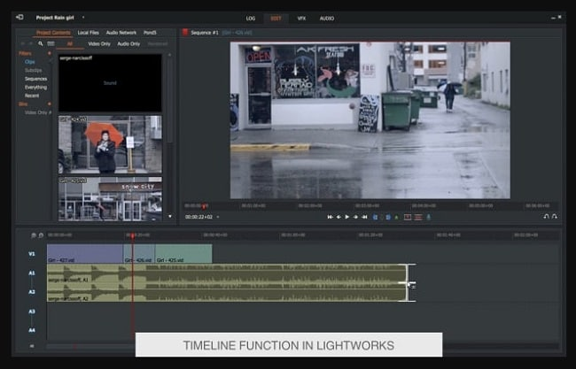 lightworks timeline editing