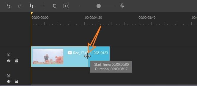 trim video in DemoCreator