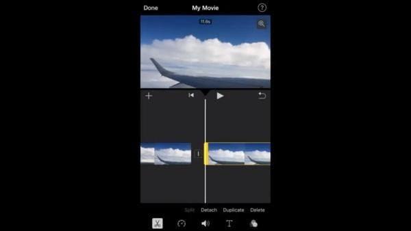 trim video imovie 02