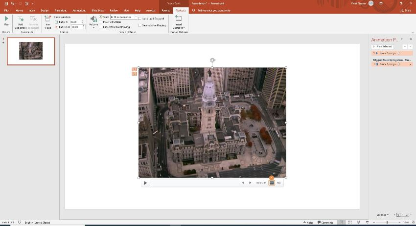 creat text in PowerPoint