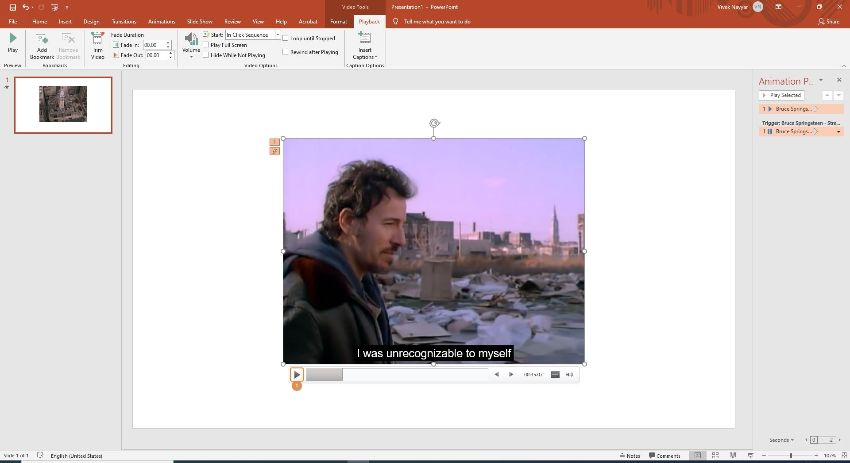 play the video in PowerPoint