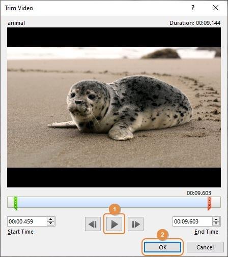 trim video in powerpoint 04
