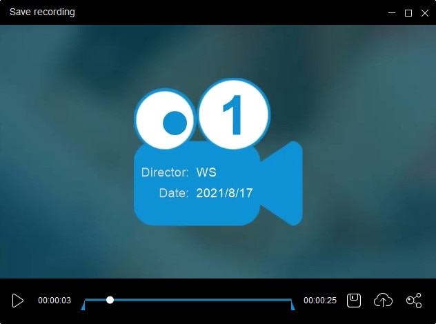 recorded video clip in apowersoft