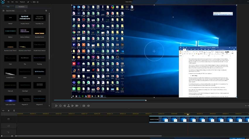 cyberlink video editing
