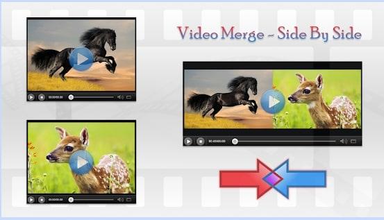video merge side by side