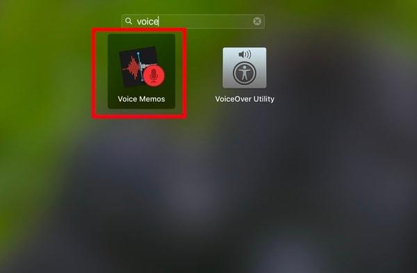 launch voice memos on mac
