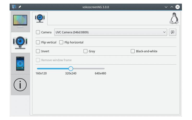 vokoscreen webcam recording