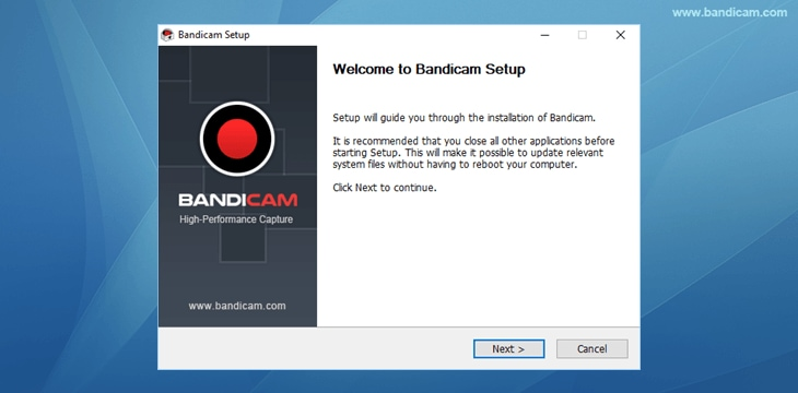 welcome to bandicam setup