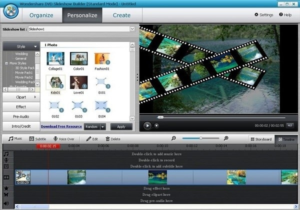 wondershare dvd slideshow maker