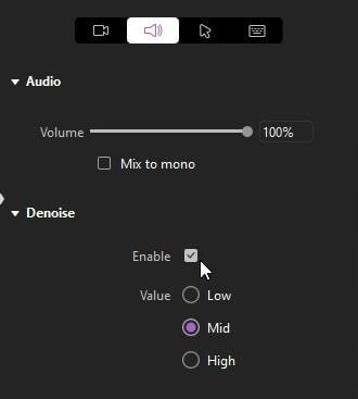 audio denoise
