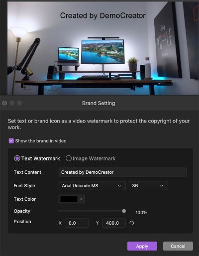 brand settings