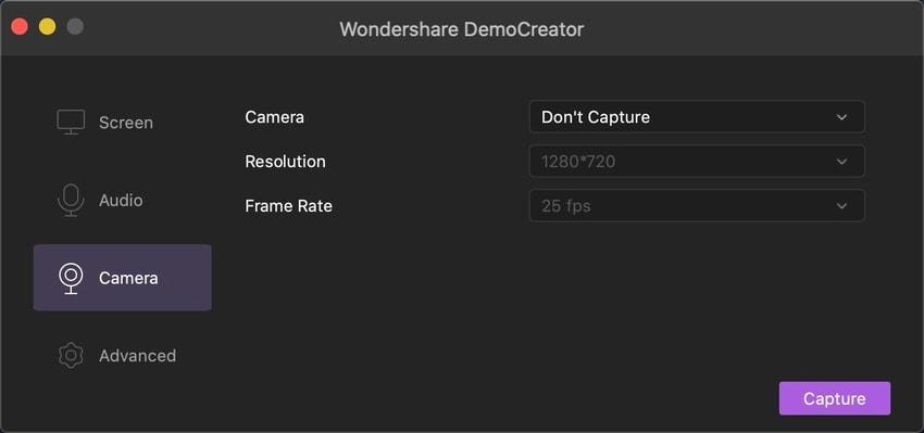 democreator mode caméra