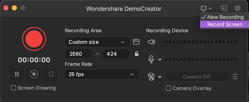 change recording mode