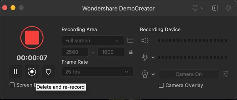 delete and re-record