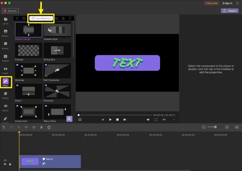 make animated text