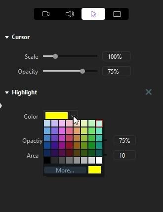 color of cursor