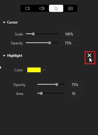 delete cursor effects