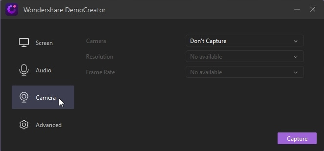 democreator camera mode