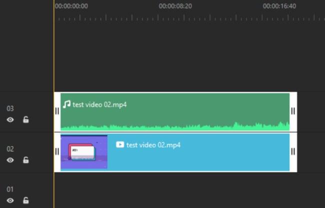 separate audio track