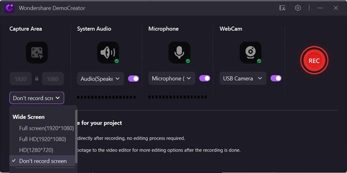 record audio only democreator