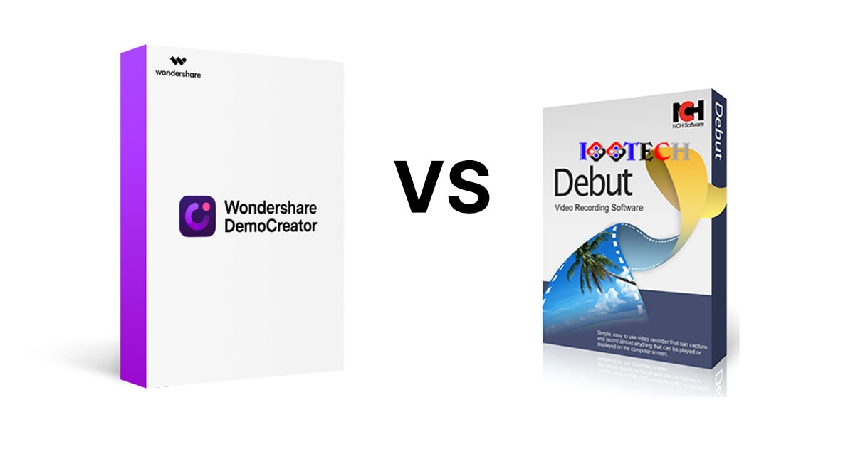 Wondershare DemoCreator VS NCH Debut: Winner is?