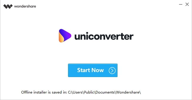 Instale o Wondershare UniConverter - Inicie o Wondershare UniConverter