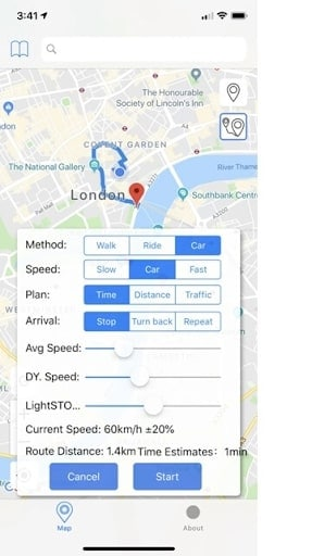 change location setting