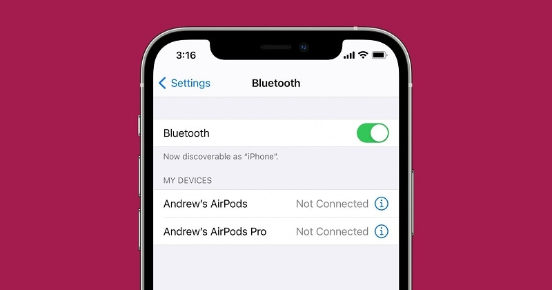 turning bluetooth off in iPhone