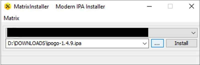 ipogo install package